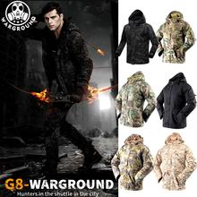 купить Military uniform men's tactical clothing thickening hunting suit jacket winter fleece warm camouflage G8 windbreaker jacket дешево