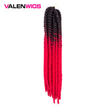 Valenwigs Crochet Hair Havana Mambo Twist Braid 22 Inch 100g Ombre Color Synthetic Fiber braiding hair For Afro Women