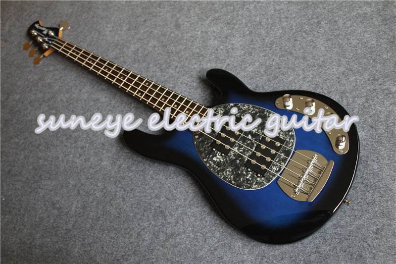 Vintage bleu brillant finition musique homme Style guitare basse électrique 4 cordes guitare basse avec Basswood guitare corps livraison gratuite