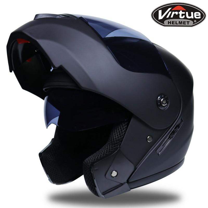 2 geschenke Unisex Racing Motocross Helme Modulare Dual Objektiv Carbon Motorrad Helm Full Face Sicher Helm FlipUp Cascos Para Moto