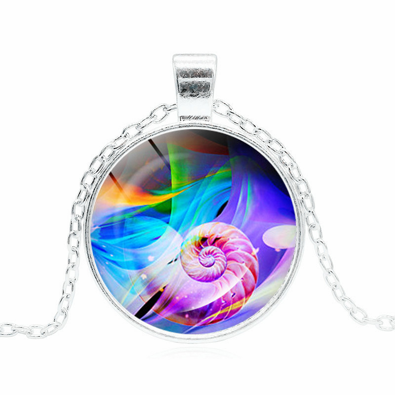 New Products Accessories Waterfront Dream of Art Time Stone Necklace Glass Necklace Pendant Small Gifts image