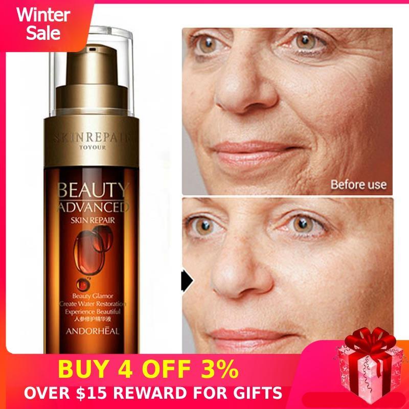 Ginseng Face Serum Niacinamide Hyaluronic Acid Vitamini Anti-Aging Skin Care 50ML Essence Collagen Anti Wrinkle Pore Minimizer M