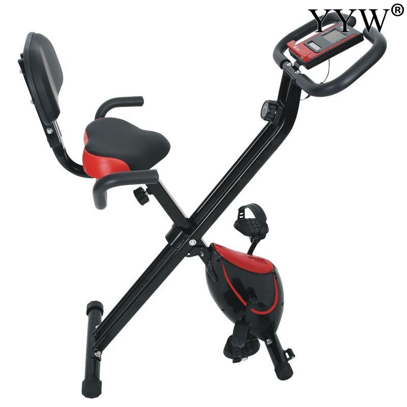 Складной велосипедный велосипед для фитнеса, для внутреннего использования, велосипедный веб тормоз с 8 уровнями сопротивления, фитнес Бод