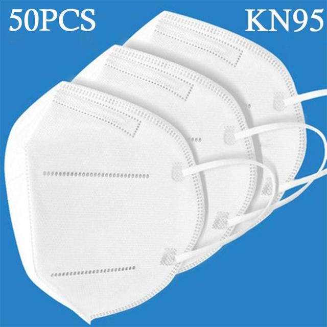KN95 Mouth Mask High Quality PM2.5  Anti-dust Activated Carbon Anti Dust Face Mask Anti Cough Flu Respirators Ffp3 Ffp2 N95 safe 1