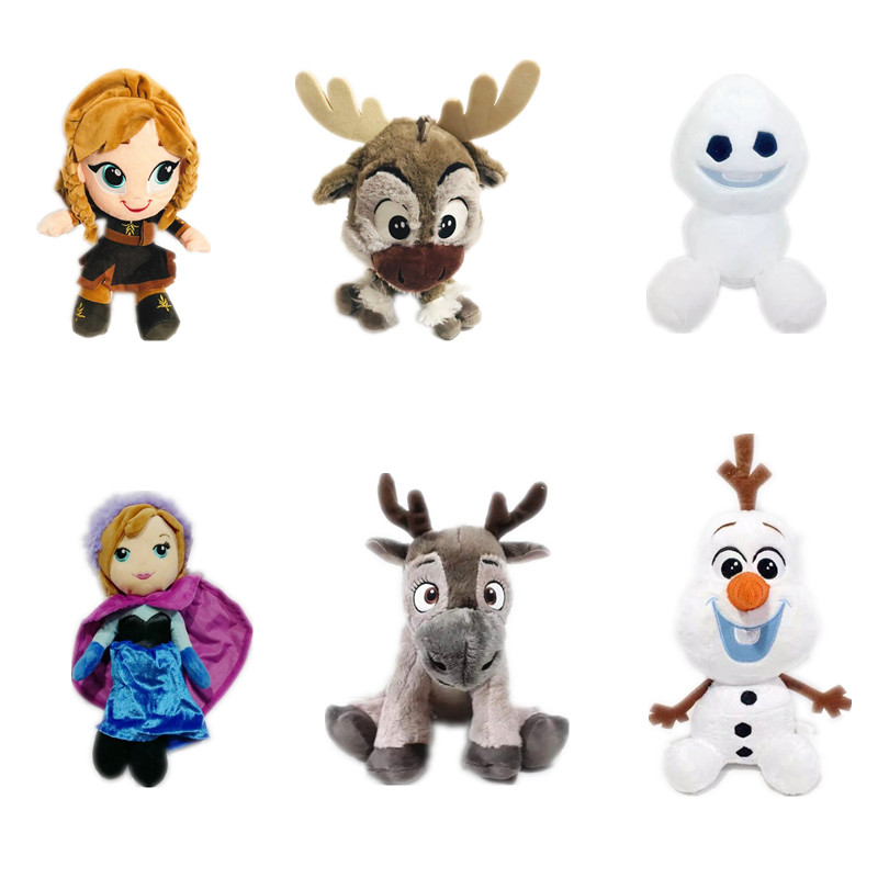 1pieces/lot The Deer Sven Snow Man Anna Doll Gift Children's Toys