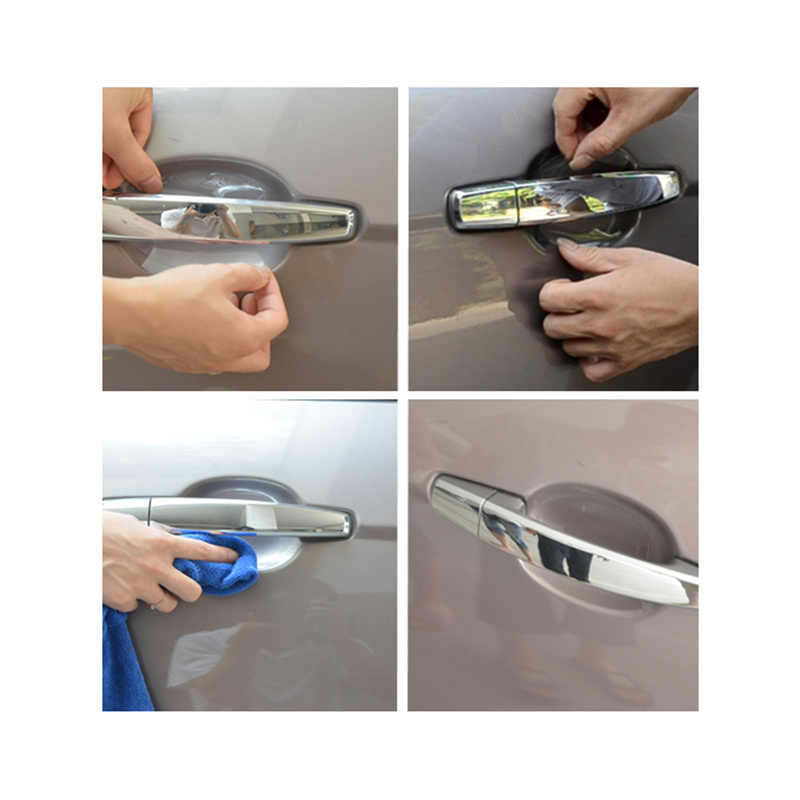 5 sztuk naklejki samochodowe klamka do drzwi samochodowych ochrona przed porysowaniami filmy dla Lexus RX300 RX330 RX350 IS250 LX570 is200 is300 ls400 CT DS LX