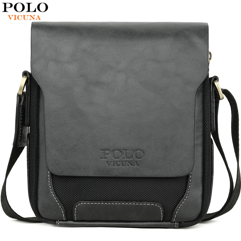 VICUNA POLO Brand Soft Leather Man Daily Messenger Bag Vintage Large Capacity Male Crossbody Bags Shoulder Bags sac a main