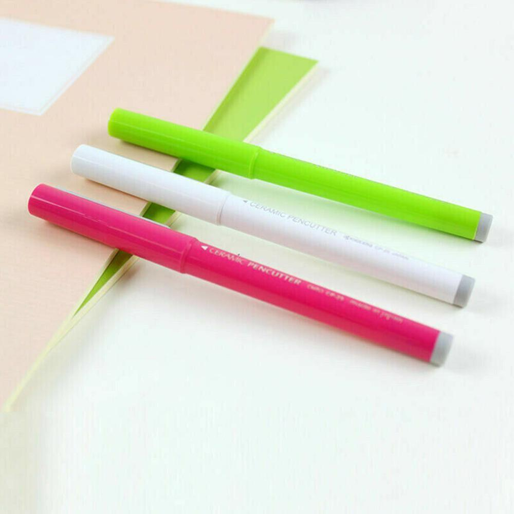 Gray/Pink/Green (Random Delivery) Ceramic Paper Cutting Pen Cutting Utility Cutters For Crafts Notebook DIY Multifunctional