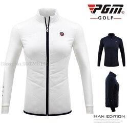 PGM Winter Women golf windbreaker Keep Warm Slim golf jacket Golf Tennis Baseball Apparel Ladies Thicken Cotton Down Trench Coat