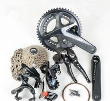SHIMANO ULTEGRA R8000 groupset 2x11 22S hız 50/34T 53/39T 170 172.5 175mm yol bisikleti bisiklet grubu seti vites seti