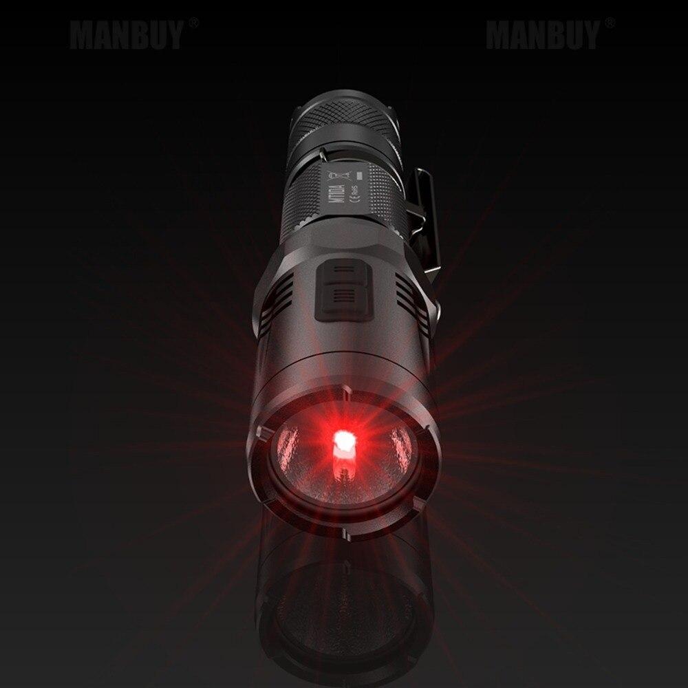 2020 Nitecore MT10A Portable Tactical Flashlight XM-L2 U2 920 Lms Red Light Illumination Aluminum Alloy Waterproof Free Shipping