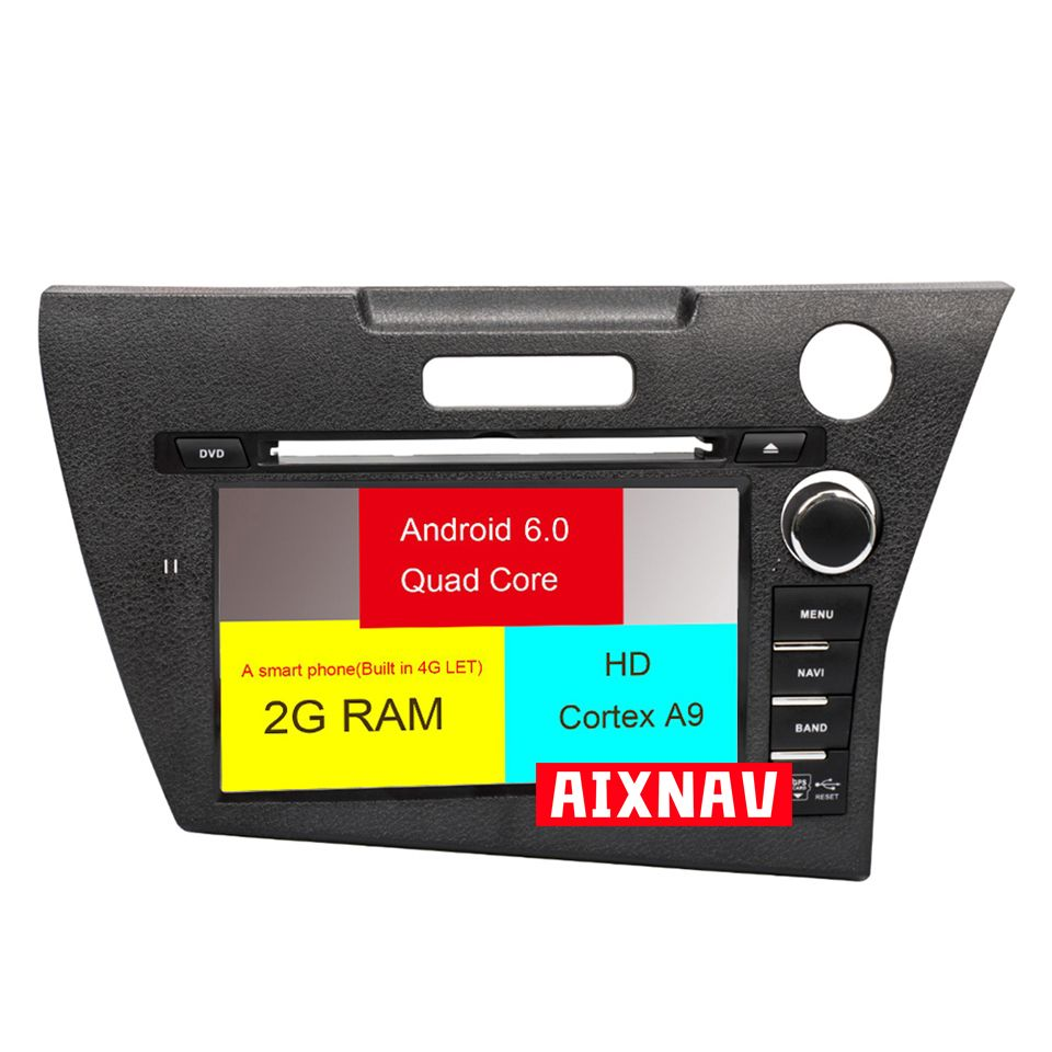 Car Radio car multimidia autoradio for <font><b>Honda</b></font> <font><b>CRZ</b></font> dvd <font><b>gps</b></font> 2016 - 2019 support 4G Bluetooth Auto Radio parktronic 2 Din navigation image