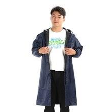 Модный Мужской плащ из ткани Оксфорд, портативный дождевик для путешествий на открытом воздухе, водонепроницаемый, для кемпинга, пончо с капюшоном, пластиковый дождевик