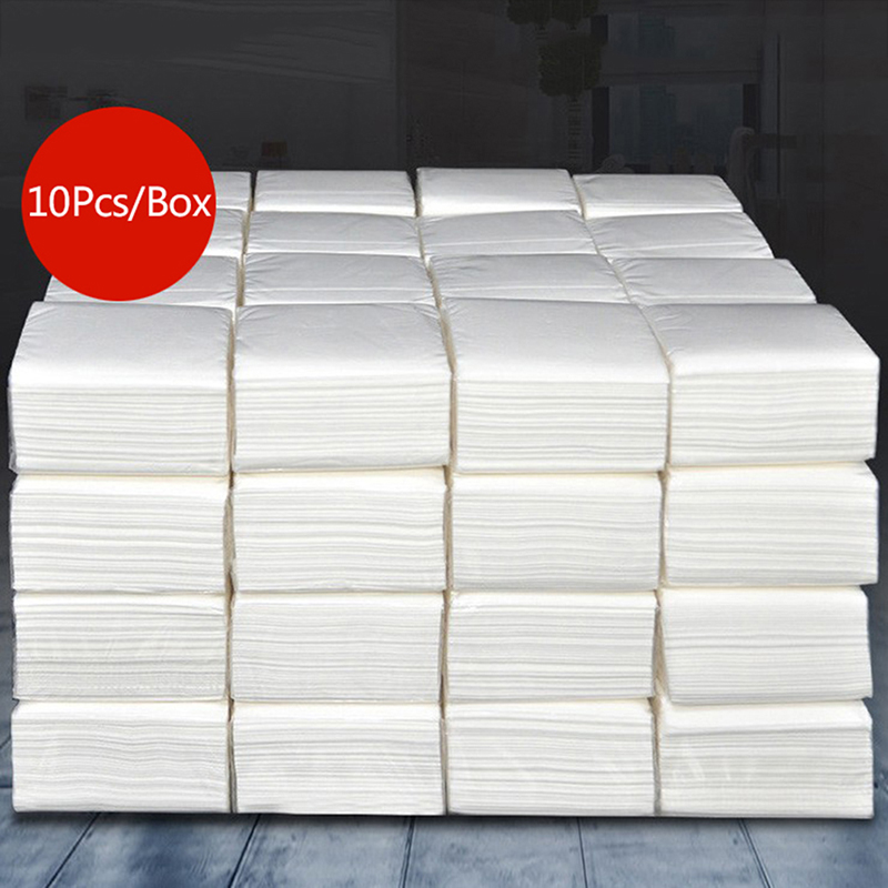 10Pack Toilet Paper Bath Tissue Bathroom Paper Towels Roll 3 Ply Household Napkin