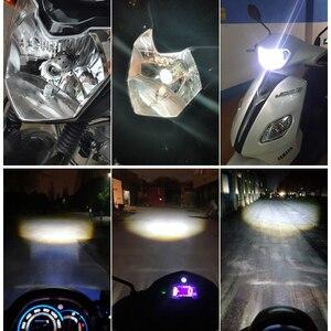 Image 5 - Motorcycle Led H4 H6 BA20D Headlight Bulbs Mini Bi LED Headlight Lens Moto 4800LM Hi Lo Lamp Scooter ATV Accessories Fog Lights