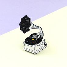 Креативная черно белая музыкальная колонка Классическая Механическая