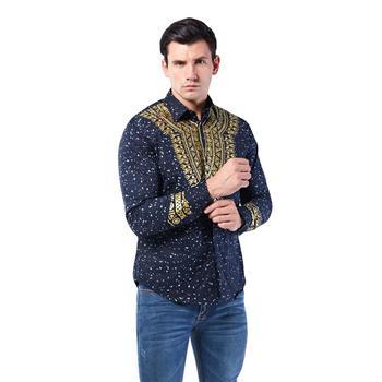 African Clothes hip hop Africa Dashiki Shirts 3D Golden printed clothing Shirt 2020 kurta men