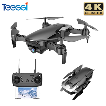 Teeggi M69 RC Drone with 4K 1080P HD Camera WiFi FPV Dron Quadcopter Foldable Quadrocopter Helicopter Kids Toy rc quadcopter drone helicopter delay timer instantly social sharing foldable 8mp digital camera hd 1080p video