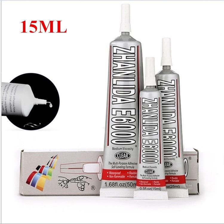 15ml Industrial Liquid E6000 Super Glue Strong Adhesive For Diy Diamond Painting Cloth Metal Fabric Rhinestones Crystal Glass Uv