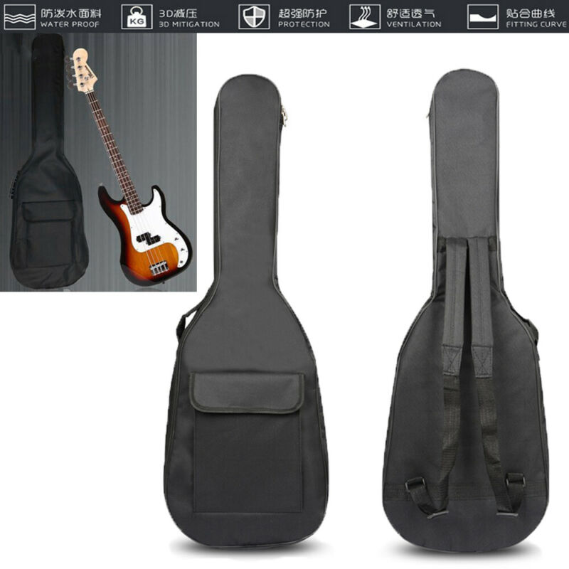 Double Straps Padded Waterproof Electric Bass Guitar Bag Soft Case Gig Bag Case/