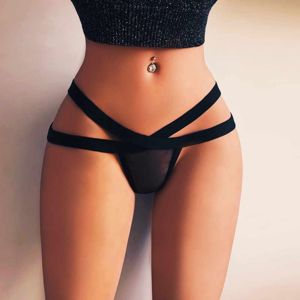 2019 Hot Vender Lingerie Sexy Mulheres Sexy Lingerie G-corda da Malha Briefs Underwear Calcinhas Tangas T cordas Knick Atacado # A30