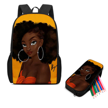 Качественная 3D печать на заказ узор черная девочка афро мультфильм дети сумки дети рюкзак малыш школьные сумки водонепроницаемый мода прохладный