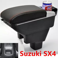 For Suzuki SX4 armrest box USB Charging heighten Double layer central Store content cup holder ashtray accessories|Armrests| |  -