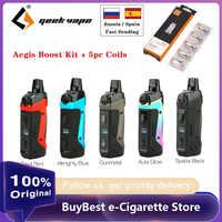 Оригинальный комплект Geekvape Aegis Boost Pod Vape с аккумулятором 1500 мАч и 3,7 мл Pod подходит как Pod, так и RDTA электронная сигарета Vape kit vs Vinci X / Solo