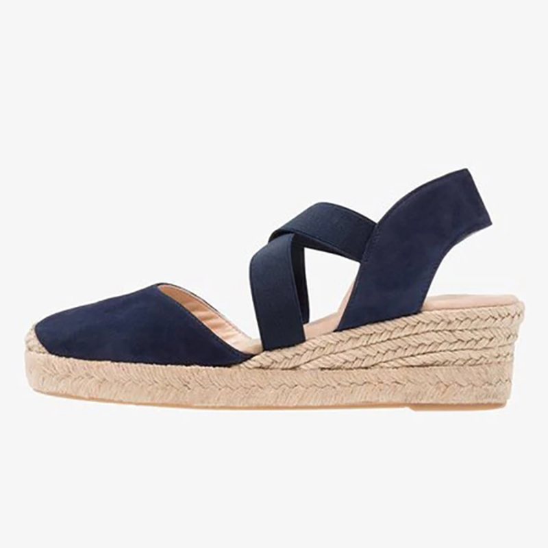 Hecea2dc8f38f479c8849f835118e0d58C Women Wedges Sandals shoes woman Casual Summer Gladiator Retro Female Sandals Flock Ladies Party Office women Shoes dropshipping