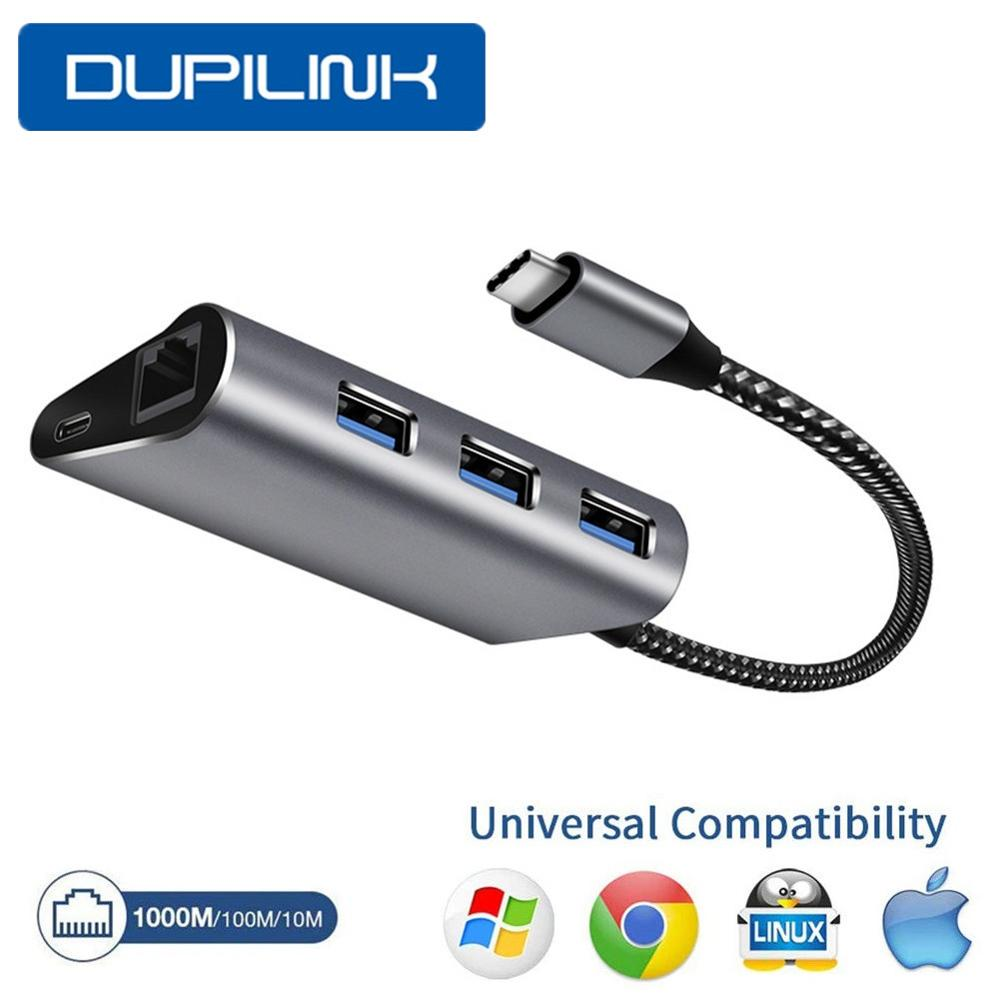 DUPILINK USB Ethernet USB 3 0 to RJ45 HUB for Xiaomi Mi Box 3 S Set-top Box Ethernet Adapter Network Card USB 10 100 1000 Lan