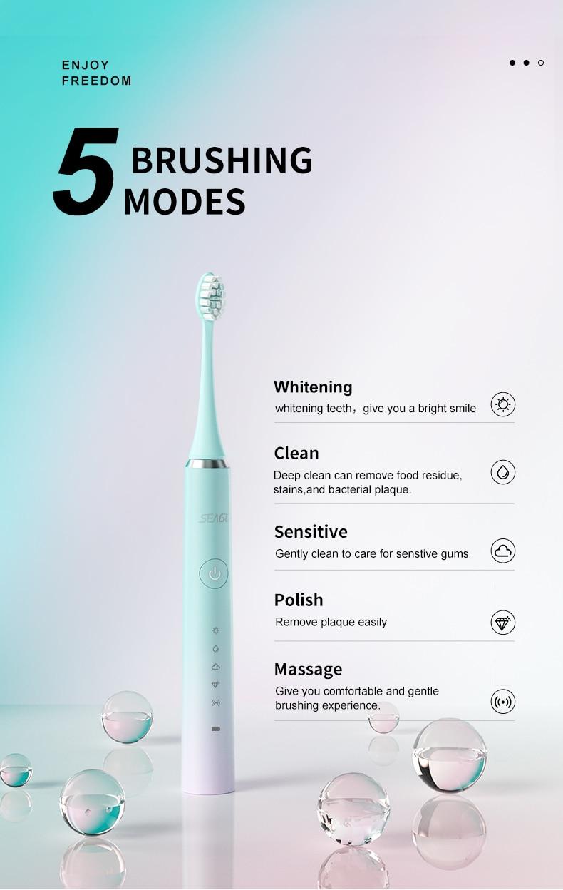 электрическая зубная щетка seago s2