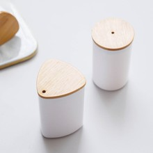 Home Table Small Toothpick Box Living Room Toothpick Tube Dining Toothpick Canister Round Simple dustproof Toothpick Bottle H(China)