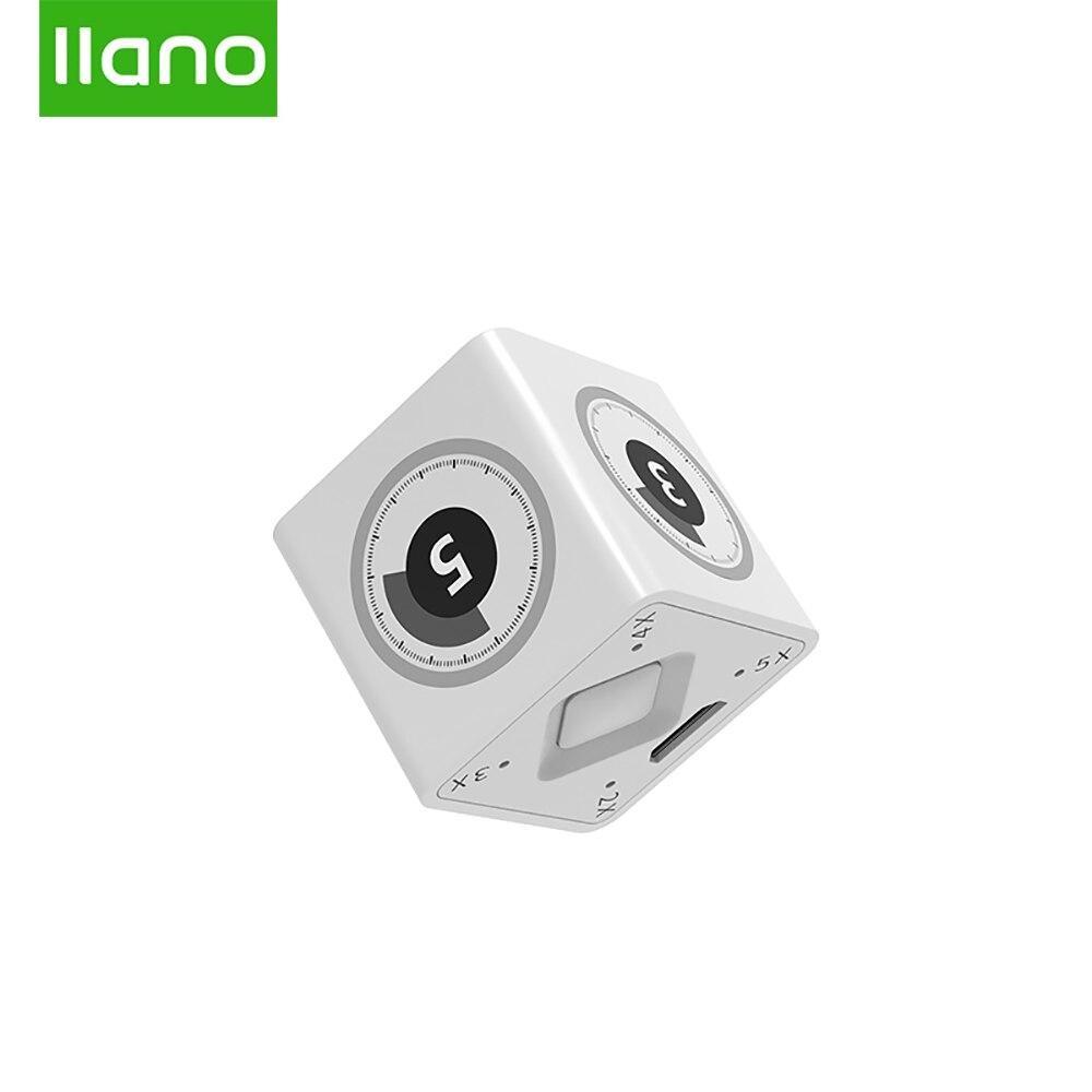 LLANO MINI Gadget USB Timer Small Square Digital Led Alarm Clock Digital Desktop Kitchen Desk Tool Working/Meeting/Sport/Timming