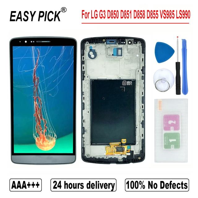 עבור G3 כפולה D858 D858HK D856 LCD תצוגת מסך מגע Digitizer עצרת כלים חינם עבור LG G3 D850 D851 D852 d855 VS985 LS990