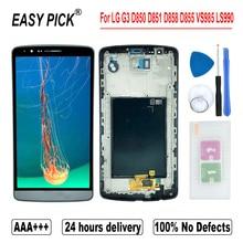Voor G3 Dual D858 D858HK D856 Lcd Touch Screen Digitizer Vergadering Gratis Tools Voor Lg G3 D850 D851 D852 d855 VS985 LS990
