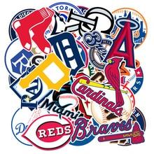 30pcs/pack Baseball teams logo applies to suitcase skateboard car waterproof stickers DIY refrigerator wallpaper PVC