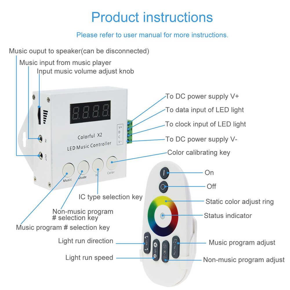 LED wifi Bluetooth pilot do muzyki dostosować SP105E SP106E SP107E SP108E WS2801 WS2811 LDP6803 SK6812 WS2812B IC pasek światła 5-24V
