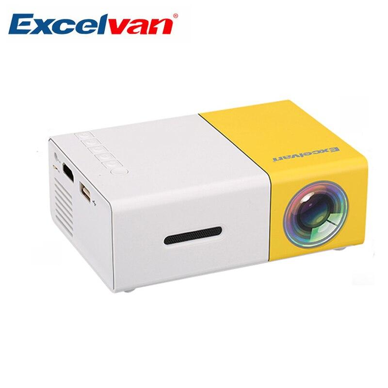 Excelvan YG300 Mini projecteur Portable LCD Proyector HDMI USB AV SD 400-600 Lumen théâtre enfants éducation projecteur