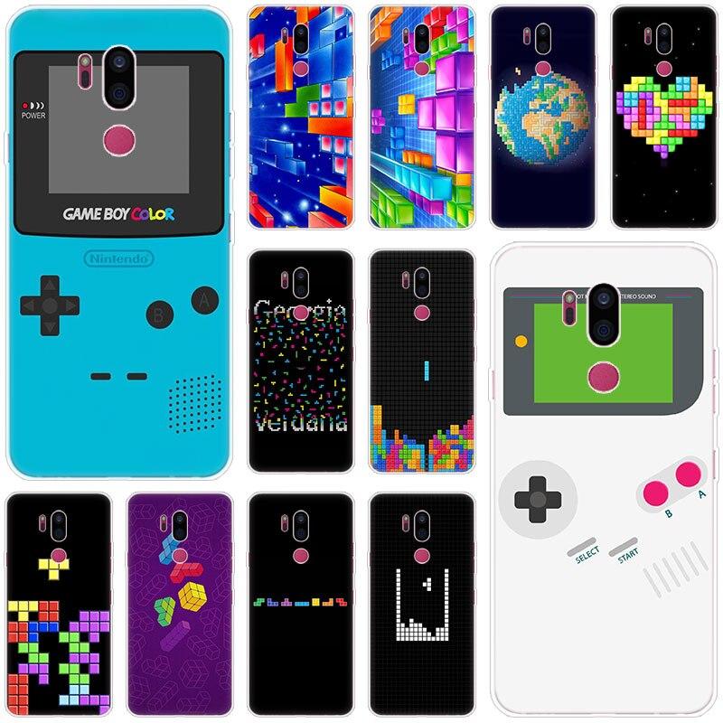 Classic Games Tetris Case For LG G5 G6 Mini G7 G8 G8S V20 V30 V40 V50 Thinq Q6 Q7 Q8 Q9 Q60 W10 W30 Aristo 2 X Power 2 3 Cover