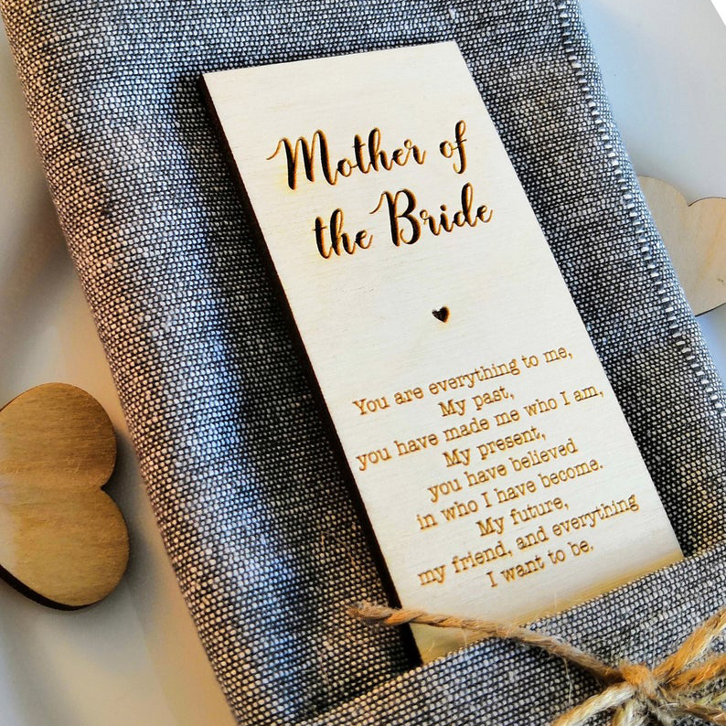 Mother of the Bride Wooden Place Card,Personalize Rustic Wedding Decor,Wedding Gifts For Guests,Wedding Decor, Napkin Rings image