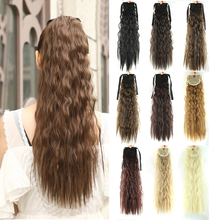 Hair-Extension Hairpieces Ponytails Afro Kinky Drawstring Synthetic Soowee Fiber High-Temperature