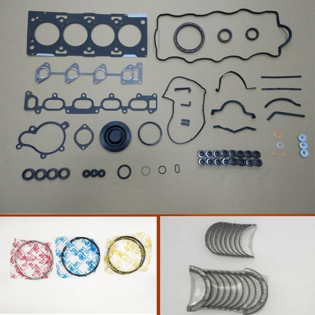 D4EA Engine Full gasket set kit crankshaft connecting rod bearing piston ring for Hyundai SANTA Fe/Tucson 2.0L 1991cc 2001-2010 1