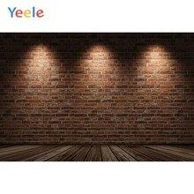Yeele deska drewniana światła ceglany mur tło noworodka Party fotografia tło dla Photo Studio winylu Photocall Photophone