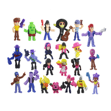 30pcs/lot Brawl game cartoon star hero figure model Spike Shelly Leon PRIMO MORTIS doll kawaii cute toy gift for boy girl kids