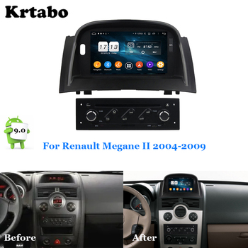 Car radio Android multimedia player 4G RAM For Renault Megane II 2004-2009 Car touch screen GPS Support Carplay image