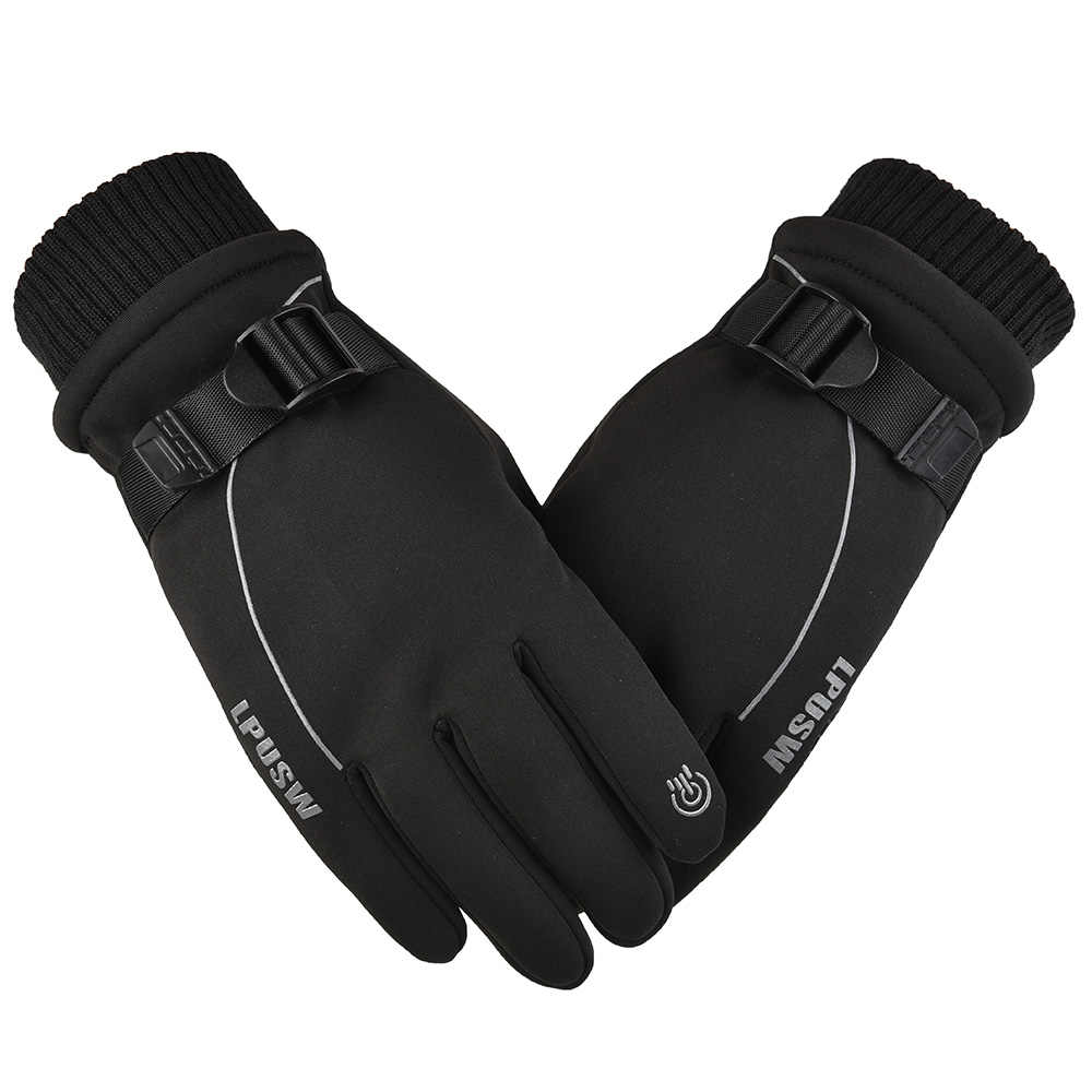 Winter Gloves Men Women Warm Snowmobile Skiing Gloves For Scooter Outdoor Sports