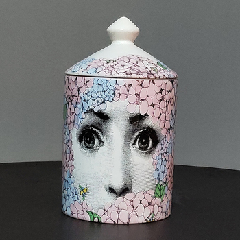 Lady Face Jar DIY Empty Candle Holder Beauty Dressing Brush Pen Box with Lid Ceramic Storage Tin Flower and Bottle 10