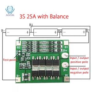 Image 2 - 3S 4S 25A 40A 18650 carte de Protection de batterie au Lithium 11.1V 12.6V 14.8V 16.8 courant élevé avec décharge de surcharge équilibrée