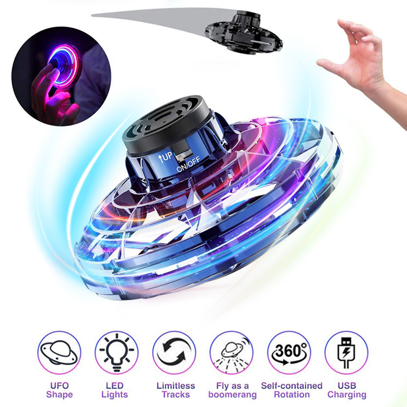 Toys For Boy Flynova Fidget Flying Spinner Toys LED Stress Relief Hobby Dropship Juguetes Zabawki UFO Gift For Kids Child