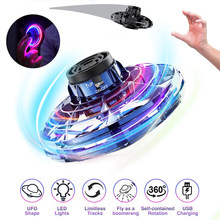 Toys for Boy Flynova Fidget Flying Spinner Toys LED Stress Relief Hobby Dropship Juguetes Zabawki UFO Gift for Kids Child(China)